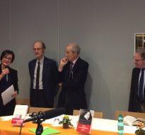 Remise du prix Malesherbes à Anne-Emmanuelle Demartini en présence de Robert Badinter