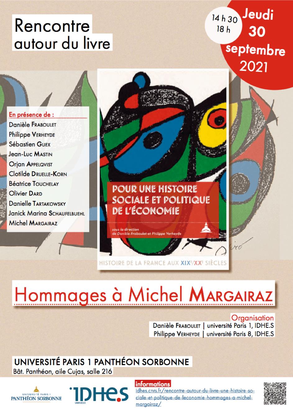 Pour une histoire sociale et politique de l'économie, Hommages à Michel Margairaz